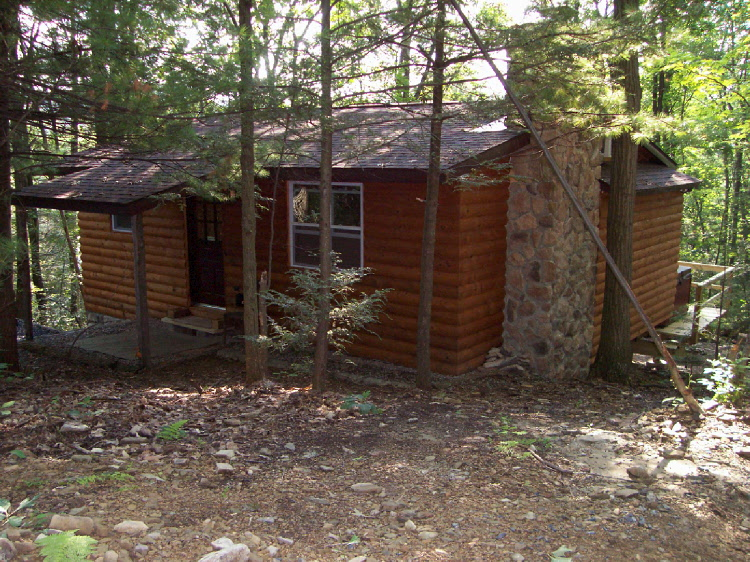 This beautiful pine wood logged cabin has a step down Jacuzzi, camp fire, gas and charcoal grills and all modern amnities. You can take to fishing, boating, and swimming in the nearby lake.